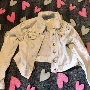 White justice jean jacket